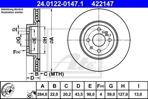 garnitures avant ø284 Fiat Bravo II Stilo Lancia 3898239 UAT Disques de frein
