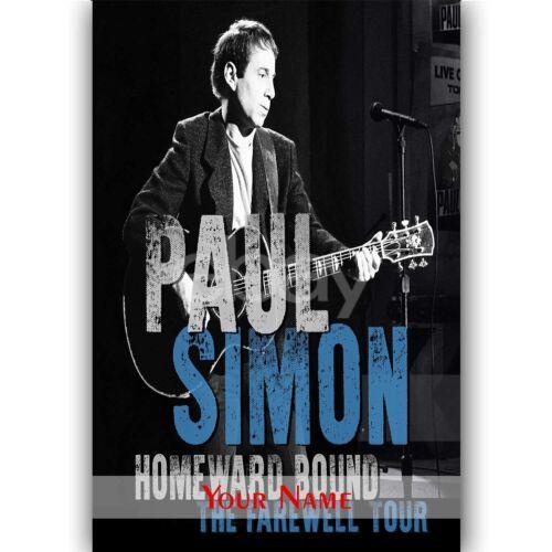 Custom Personalized Silk Poster Paul Simon The Farewell Tour Wall Decor
