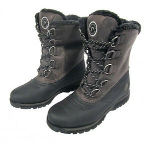 5a34c570e9f Details about ROCKPORT LUX LODGE K58352 BLACK/GREY MENS WATERPROOF WARMED  LUXURY HIGH BOOTS