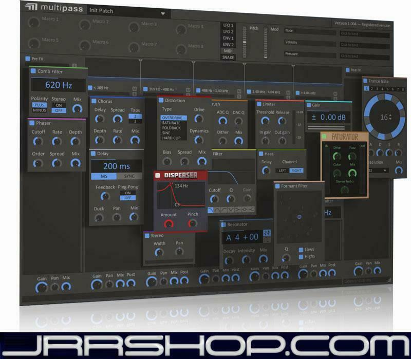 Kilohearts Multipass Ultimate Effects Playground Plugin eDelivery JRR Shop