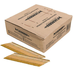Fixman-Collated-Galvanised-Ring-Shank-Framing-Nails-34-3-1mm-x-90mm-2500-Pack