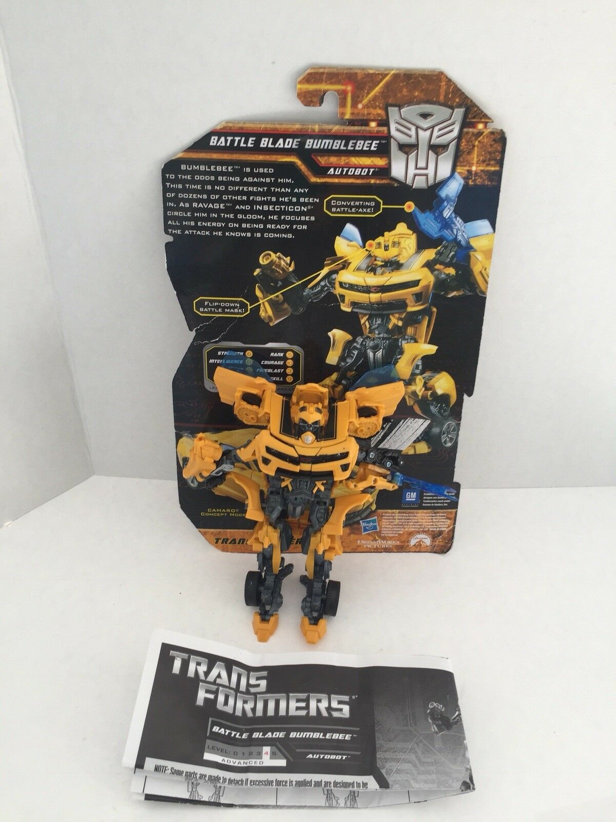 Hasbro TRANSFORMERS Hunt for the Decepticons Battle Blade Bumblebee Deluxe