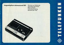 TELEFUNKEN - magnetophon stereosound 201 - Bedienungsanleitung - B2813