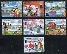 Lesotho 640-645, 647 MNH Disney character Finlandia 1988 Helsinki x17553