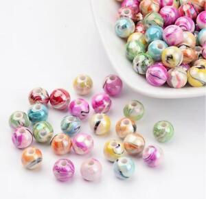 ACRYLIC-BEADS-CANDY-STRIPED-ROUND-8mm-100-Per-Bag-TOP-QUALITY-ACR1