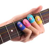 4pcs guitar bass silicone finger picks protector plectrum transparent s ebay. Black Bedroom Furniture Sets. Home Design Ideas