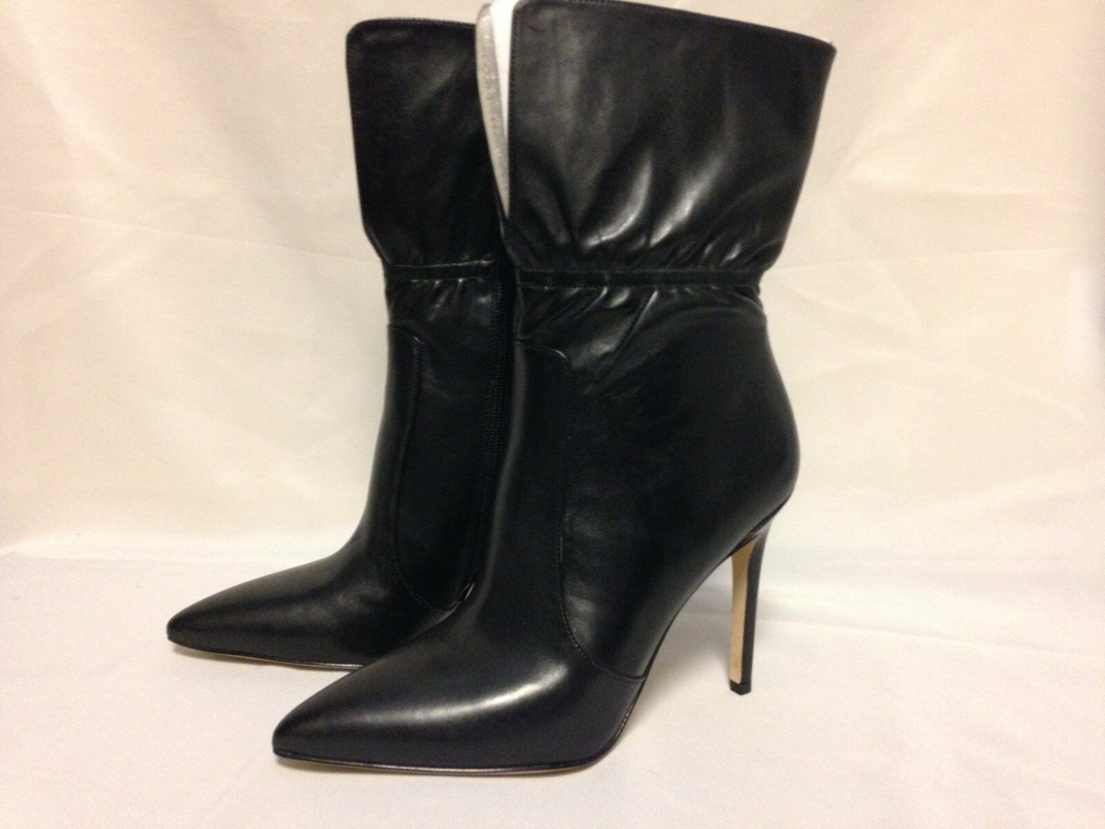 Via Spiga Felienne Ankle Boot 7.5 M Black Leather New with Box
