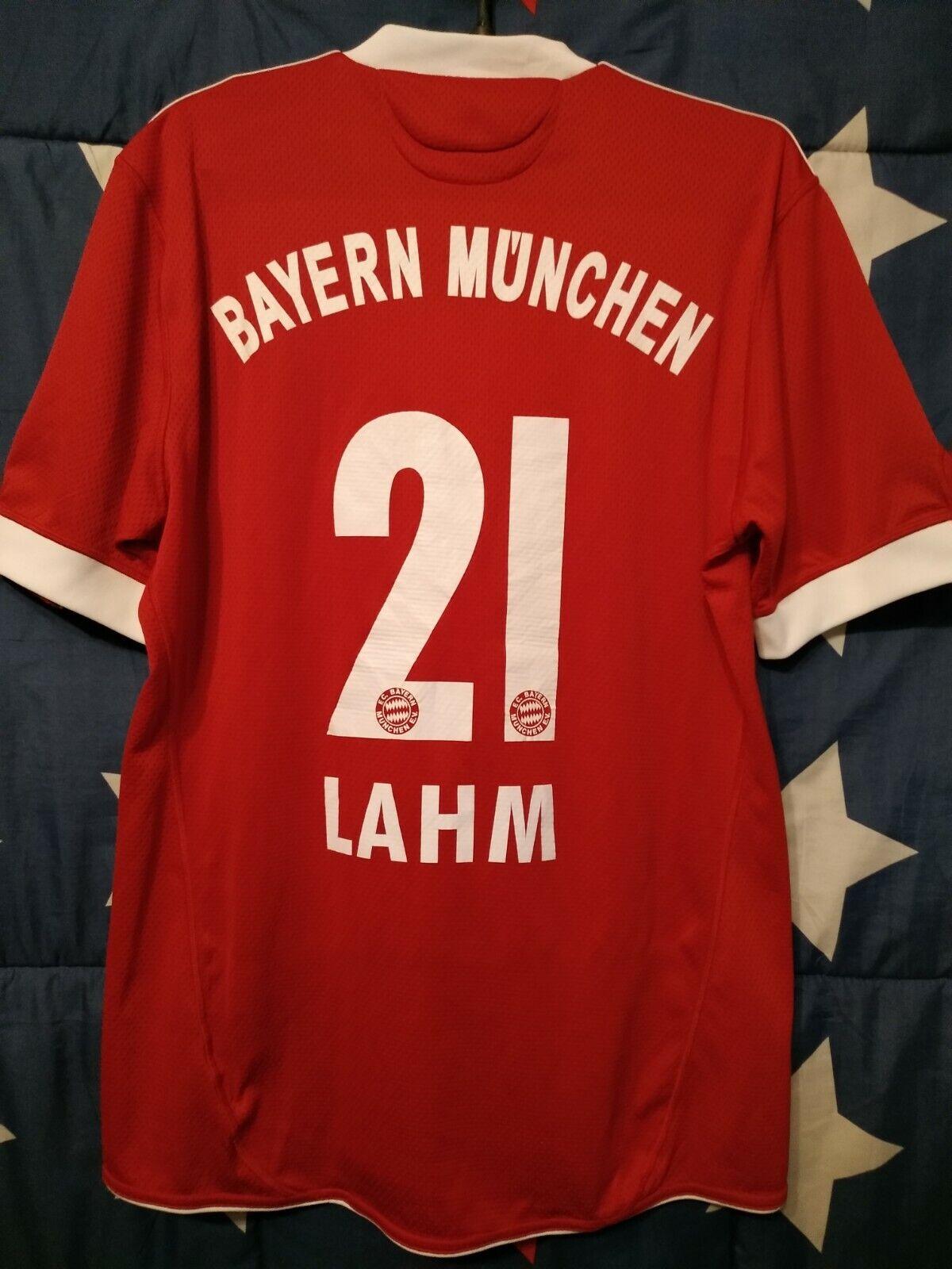 Größe M Bayern Munich Munchen 2009-2010 Home Football Shirt Jersey Men  21
