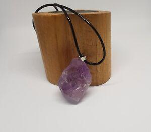 Amatista-Cristal-Colgante-Collar-de-Curacion-de-Cuarzo-Gema-Piedra-de-Curacion-Reino-Unido-vender