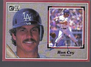 Details About 1984 Donruss Large 21 Ron Cey Signed Baseball Card Autographed Dodgers
