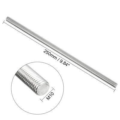 Right Hand Threads M6 x 250 mm Fully Threaded Rod 304 Stainless Steel