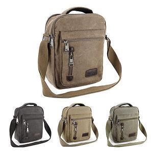 Men-039-s-Gents-Travel-Work-Canvas-Small-Messenger-Style-Shoulder-Bag-Satchel