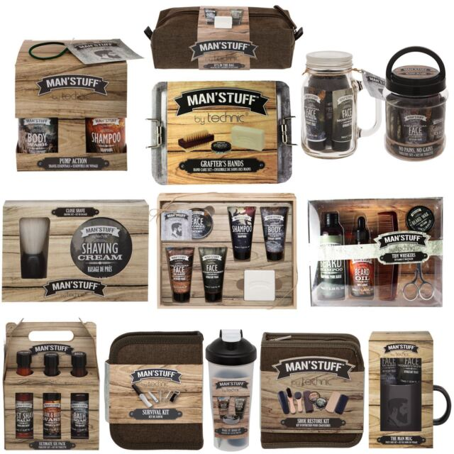 6137057d58be Technic Man Stuff Mens Toiletry Gift Set Bath & Body Shaving Beard Grooming  Gym