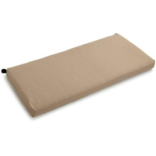 42-inch by 19-inch Spun Polyester Loveseat Cushion Sandstone