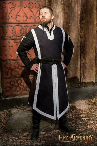 Medieval Reenactment Tunic Black Color Nice Design Arming Best .,