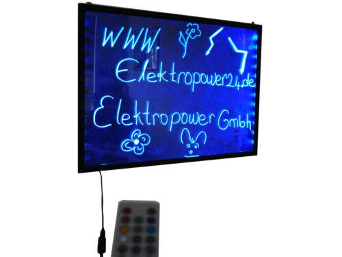 LED Pizarra Licht-Tafel Cartelera Iluminación de la Escritura Board 50x30x1 2cm