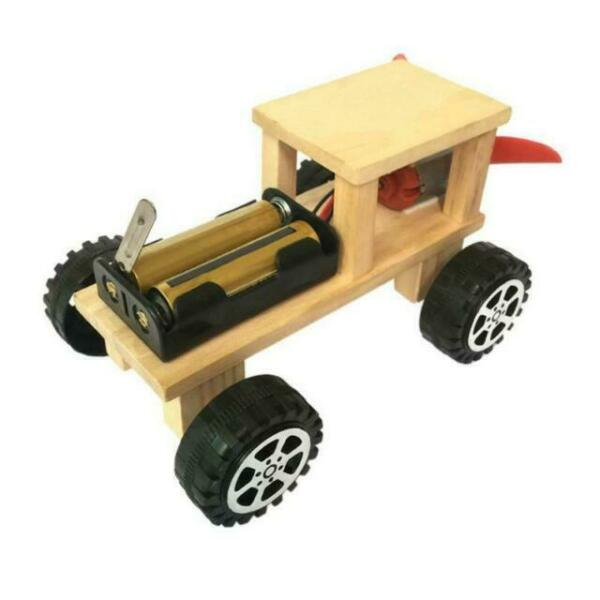 DIY Electric Wind Car Assembled Puzzles Science Experiment