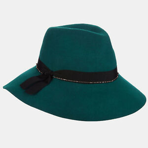 4f13bae3d Details about Ladies Scala Green Wool Felt Safari Hatr One Size LF228