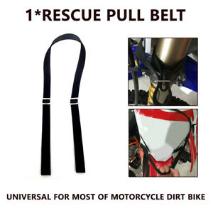 Motorcycle Emergency Rescue Strap Pull Belt Tow Rope Accessories Dirt Pit Bike
