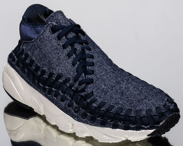 Nike Air Footscape Woven Chukka SE men lifestyle shoes NEW obsidian  857874-400 9669aafd657e