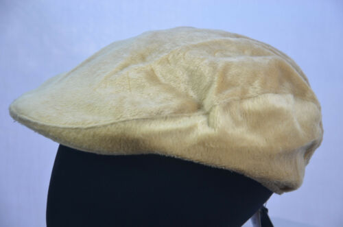 KANGOL GATSBY FAUX FUR FLAT CAP MENS TRADITIONAL HAT SMALL 55.5cm NEW NWT M00636