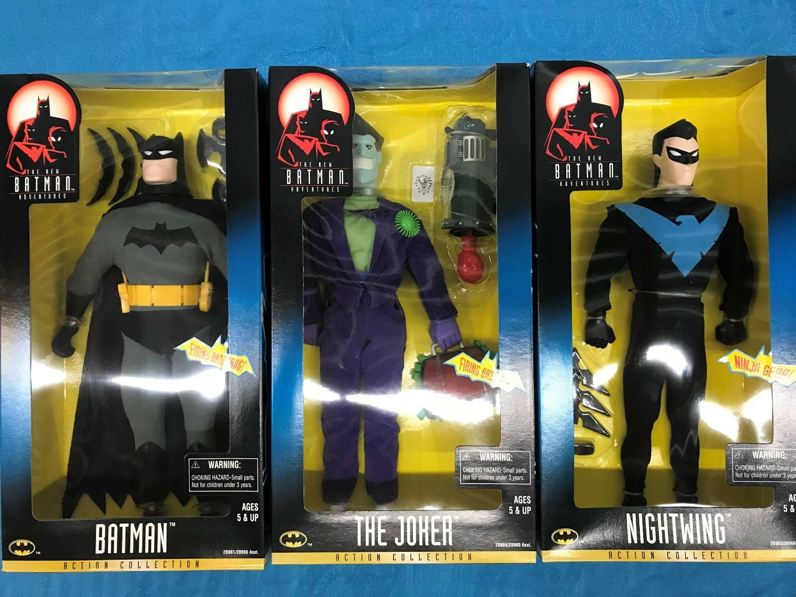 The New New New Batman Adventures set of 3 12 figures - Batman Nightwing Joker - Kenner c40142