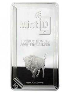 Mint-ID-10-OZ-999-NFC-Chip-Verified-Silver-Bar-Phone-app-authentication