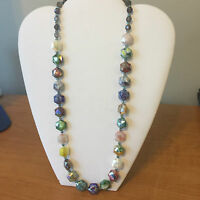 Multi Color Stone Necklace and Earrings Hand Made