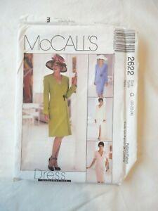 Vintage 2000 Sewing Pattern Lined Dress & Jacket & Skirt Size 20-22-24 Uncut