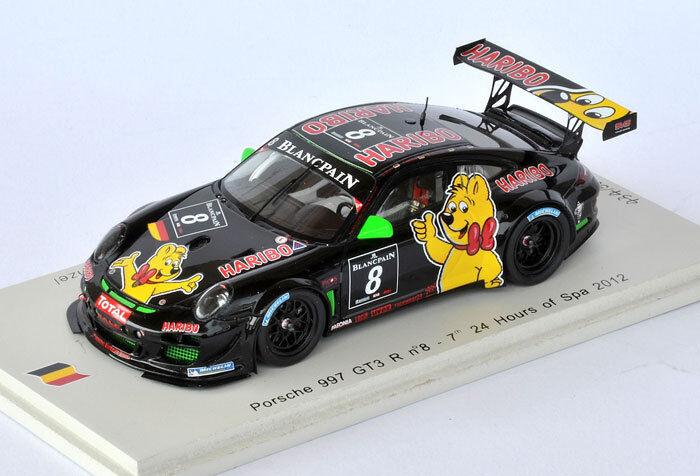 SPARK Porsche 997 GT3 R  8 'Haribo' 24 H Spa 2012 Alzen - Stursberg  SB031 1 43