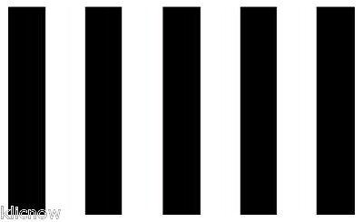 BLACK & WHITE STRIPED NOVELTY FLAG 5FT X 3FT