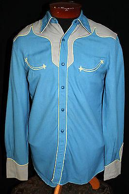 Clever Selten Kreis A 1940's Wolle Gabardine Cowboy Western Shirt Gr. S Hohe Belastbarkeit