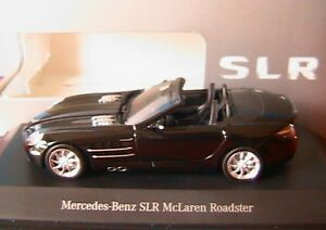 Details About Mercedes Benz Slr Mclaren Roadster Crystal Galaxy Black Minichamps 1 43 Noire