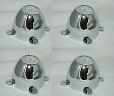 "(4) VINTAGE U.S. MAG INDY 4 DOG EAR 2-1/2"" SPACING WHEEL RIM CENTER CAP 4 LUG"