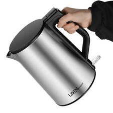 Double Wall 100% Stainless Steel BPA-Free Cool Touch Tea Electric Kettle - 1.5L