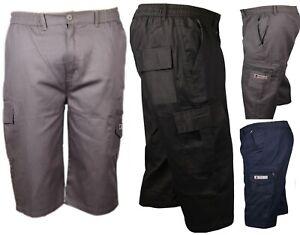 3-4-Verano-Shorts-Cintura-Elastica-Cargo-Pantalones-de-vacaciones-de-tres-cuartos-de-combate-CZ