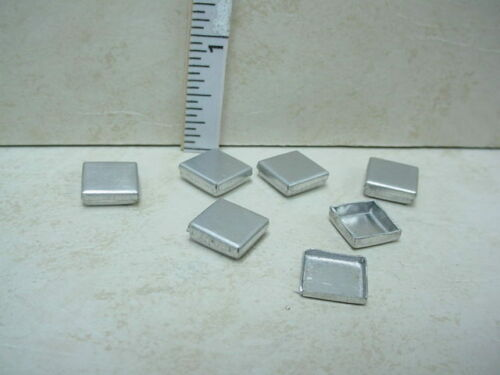 Miniature Cookie//Candy Tins-Square 1:24 6 Scale SS3036SS -1//2/""