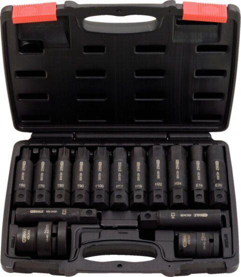 """Ks-Tools 450.0420 3/4 """" +1 """" Kraft Wechselbit Set,16 Pcs"""