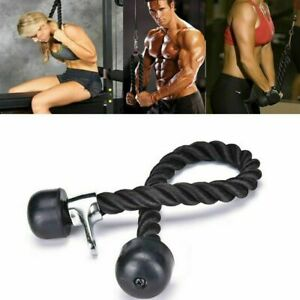 Home training Lat Bicep Tricep Ropes Pull Down Ropes Cable Attachment Handle