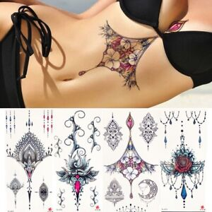 Unisex-Large-Temporary-Tattoos-Body-Art-Stickers-Waterproof-Tattoos-Removable