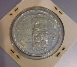 1858-1958-BRITISH-COLUMBIA-TOTEM-POLE-CANADA-DOLLAR-SILVER-COIN
