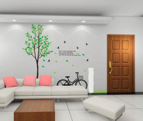 Tree Bike Scenery Wall Decal DIY removable vinyl Decorative Sticker 70x78inch