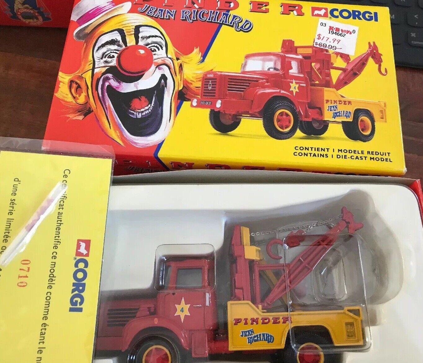 Corgi 70401 Pinder Jean Richard Cirque Berliet Glr8 - Camion de Remorquage - Nib