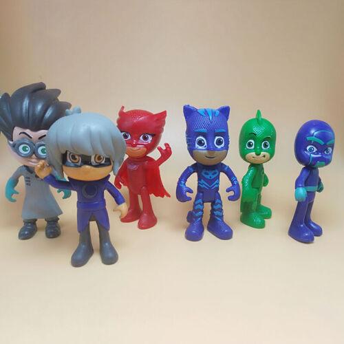 6Stk PJ Mask Catboy Owlette Glider Gekko Cloak Spielzeug Figuren Toy DHL DE