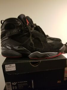 low priced 24b7f d0140 Details about 305381-022 Nike Air Jordan 8 Bred Retro Black/Gym Red-Black  Wolf grey