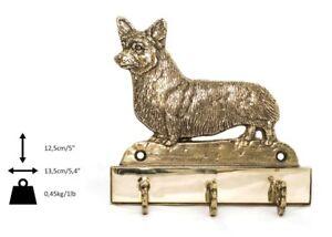 Cardigan Welsh Corgi - mosiężny wieszak z wizerunkiem psa Art Dog - Zary, Polska - Zwroty są przyjmowane - Zary, Polska