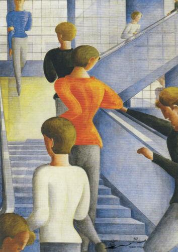Oskar Schlemmer Postkarte Bauhaustreppe