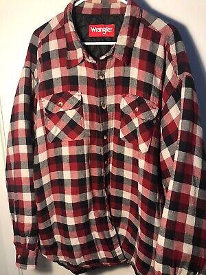 Wrangler Originals Insulated Lined Plaid Shirt Jacket Men/'s NWT Red//White S