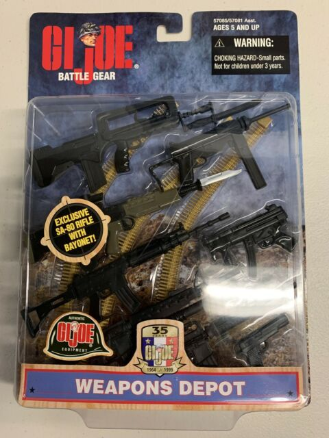 Hasbro GI Joe 1:6 Weapons Depot: 8 weapons. Unopened