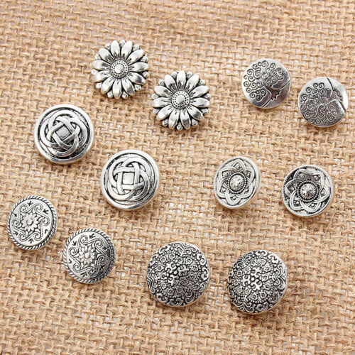 Metal Jeans Press Stud Button Hole Flower Hollow Sewing Clothes Jacket Repair